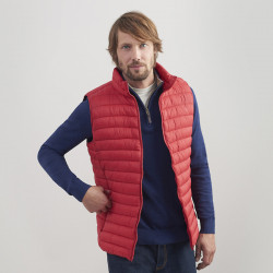 Tom Joule Red Quilted Jacket Without Sleeves