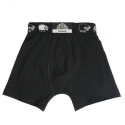 Boxer Noir Ceinture Moutons