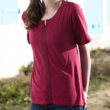 T-shirt Bohême Rouge Foncé Out Of Ireland