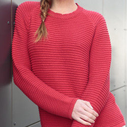 Out Of Ireland Red Round Collar Sweater