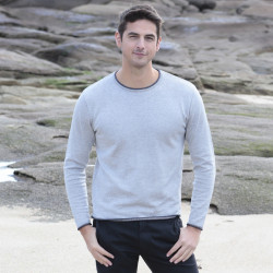 Out Of Ireland Grey Navy Roll Neck Sweater