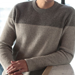 Out Of Ireland Grey Round Collar Sweater