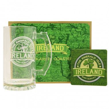 Set Glass and Coaster Ireland