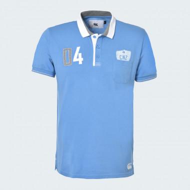 Canterbury Blue Short Sleeve Polo Nokomai