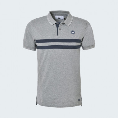 Canterbury Grey Short Sleeve Polo Wanganui