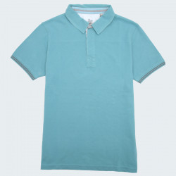Out Of Ireland Turquoise Pique Cotton Polo Shirt