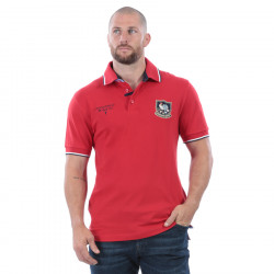 Ruckfield Piqué Cotton Red Rugby Cup Polo Shirt