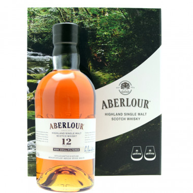 Aberlour 12 Years Old Un-chillfiltered Gift Pack 70cl 48°
