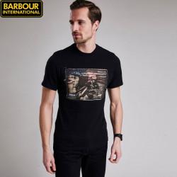 Barbour International Black Ratchets T-Shirt