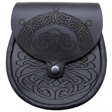 Sporran en Cuir Motifs Celtes
