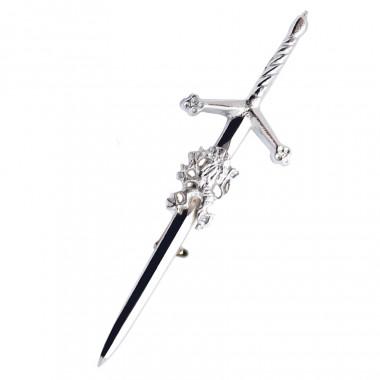 Silver Lion Kilt Pin