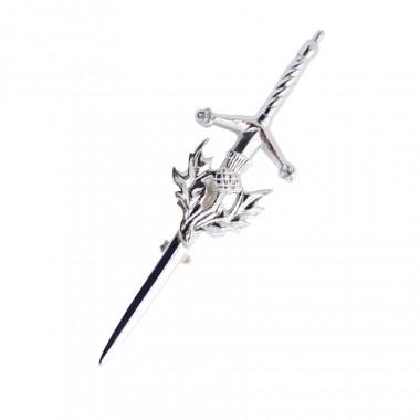 Silver Thistle Kilt Pin
