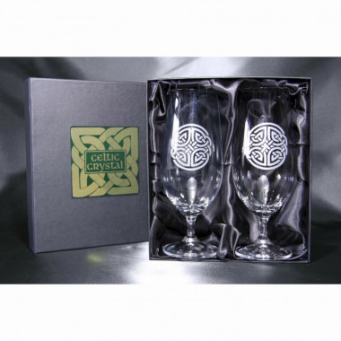 Beer Glasses x2 Celtic Set