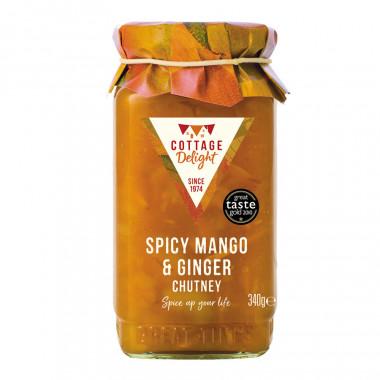 Chutney Mangue Epicée et Gingembre Cottage Delight 340g