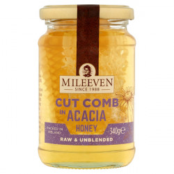 Mileeven Acacia Honey With Cut Comb 340g