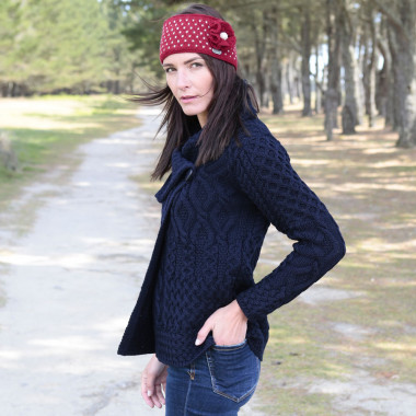 Inis Crafts Navy Button Jacket