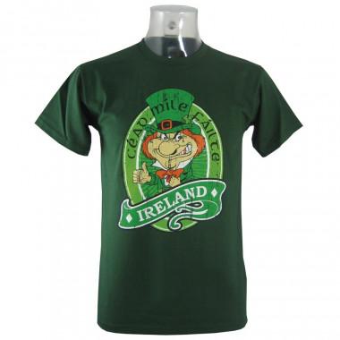 Ireland Dark Green Leprechaun T-shirt