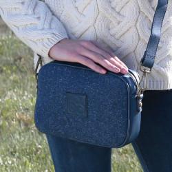 Aran Woollen Mills Blue Tweed Handbag