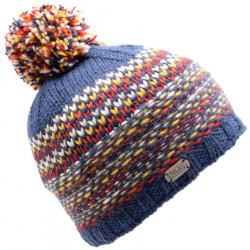 Kusan Blue and Orange Pompon Hat