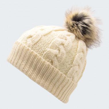 vente discount meilleure sélection baskets Bonnet Pompon Ecru Inis Crafts