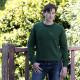 Pull homme col rond lambswool vert best yarn