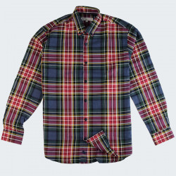 Out Of Ireland Blue Tartan Pattern Shirt