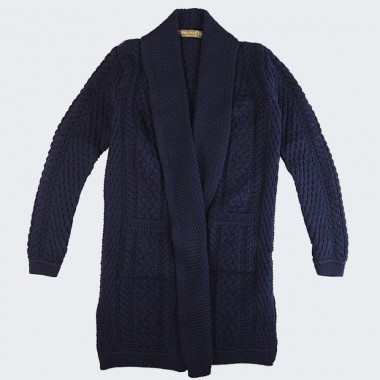 Inis Crafts Long Navy Jacket