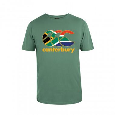 T-Shirt Nations Afrique du Sud Vert Canterbury