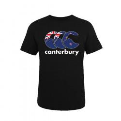 T-Shirt Nations Nouvelle-Zélande Noir Canterbury