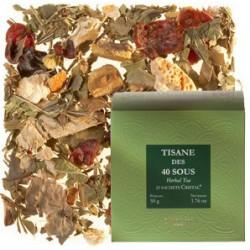 Dammann Tisane des 40 Sous Herbal Tea 25 Sachets 50g