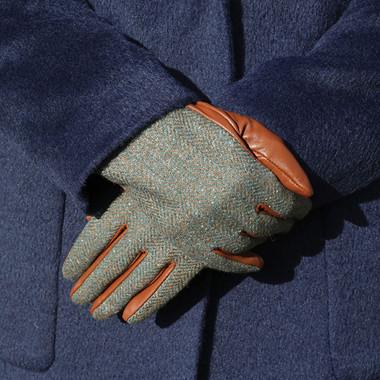 Gants Femme Tweed Vert Aran Woollen Mills