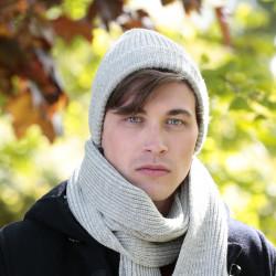 Peregrine Light Grey Ribbed Hat