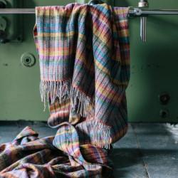 Avoca Donegal Wool Plaid 142x183cm