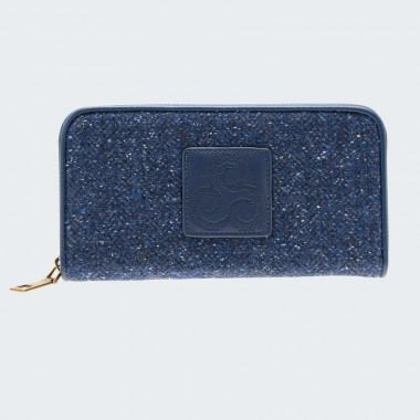 Portefeuille Tweed Bleu Aran Woollen Mills