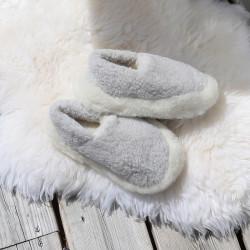 Alwero Light Grey Wool Siberian Slippers