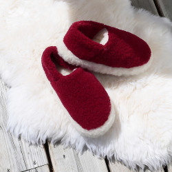 Chaussons siberian laine rouge