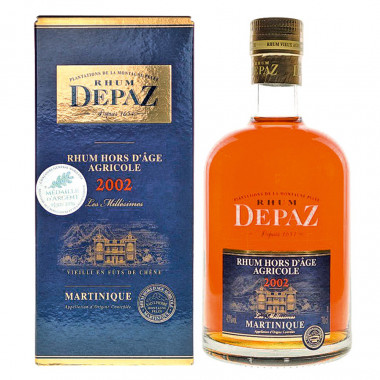 Rhum Depaz XO Millésime 2002 70cl 45°