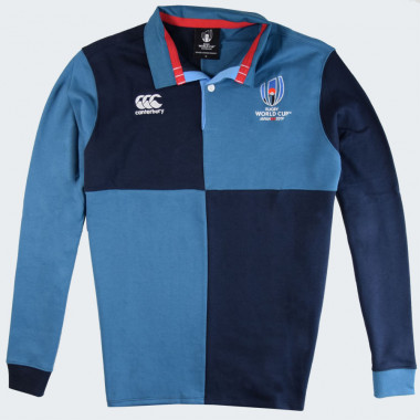 Canterbury Rugby World Cup Jersey Polo Damier Blue