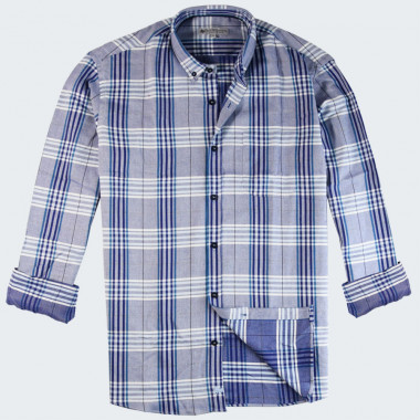Out of Ireland Large Checks Blue Shirt