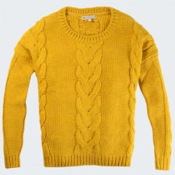 Out Of Ireland Mustard Round Collar Sweater