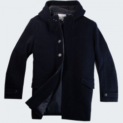 Out Of Ireland Navy Curly Wool Coat