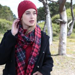 Étole Carreaux Tartan Rouge Out Of Ireland