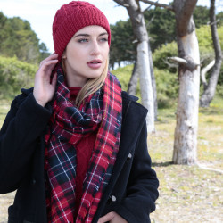 Out Of Ireland Red Tartan Check Stole