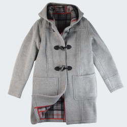 London Tradition Light Grey Fiona Duffle-Coat