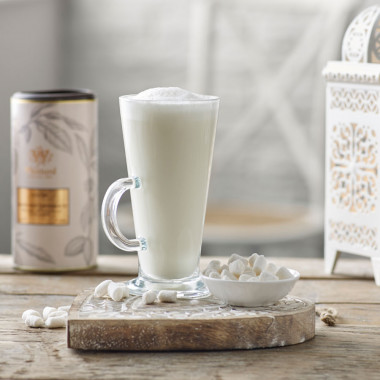 Whittard Latte Chocolate Glass Mug 285ml