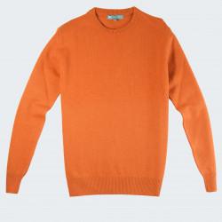 Pull Laine Extra Fine Col Rond Orange Best Yarn