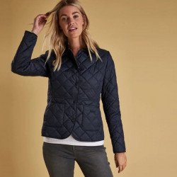 Barbour Navy Deveron Quilted Jacket