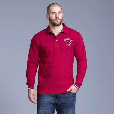 Ruckfield Red French Rugby Polo Shirt