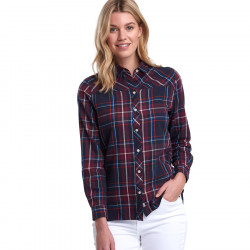 Barbour Navy and Red Paddle Check Shirt