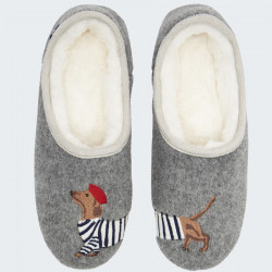 Tom Joules Striped Dog Slippers